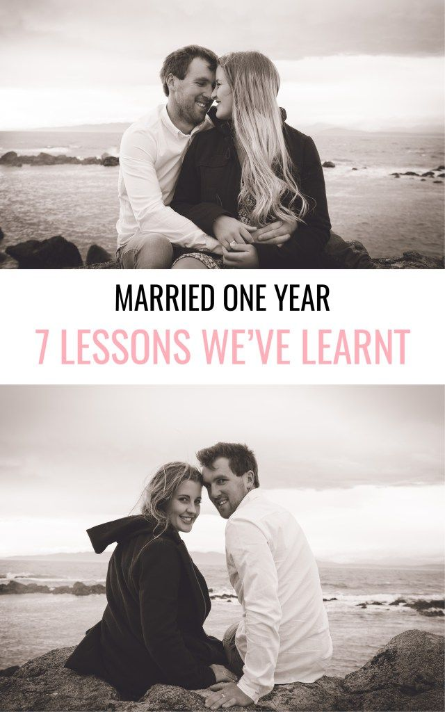 Marriage tips from a couple one year married. Gorgeous engagement photo inspiration at the beach.