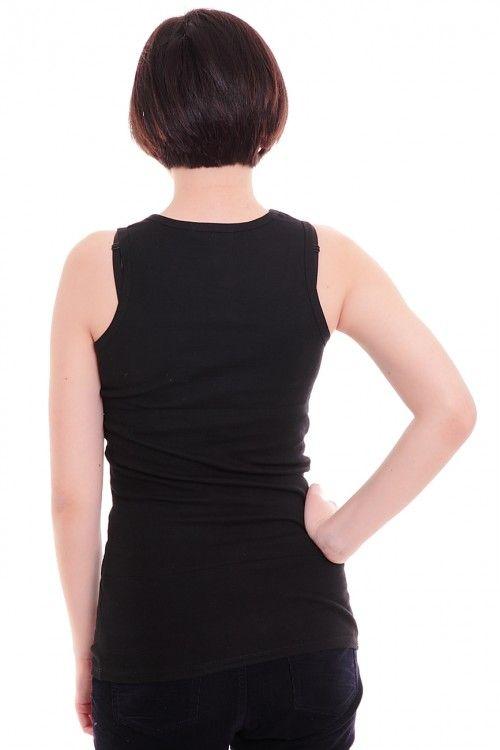 Майка А4893 Размеры: 44 Цвет: черный Цена: 300 руб.  http://optom24.ru/mayka-a4893/  #одежда #женщинам #майки #оптом24