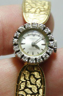 Vintage 18Kt Yellow Gold & Diamond Ladies Rolex Precision Watch - Appraised