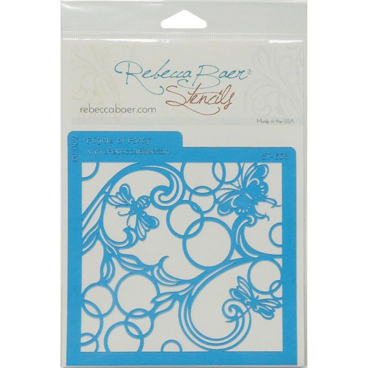 Rebecca Baer Stencil 5.75x5.75inch - Flights Of Fancy