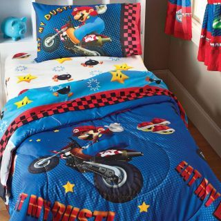 Super Mario  Race Is On  Kids Bed Set & 96 best Stuff for Nicholas! images on Pinterest | Mario Nintendo ...