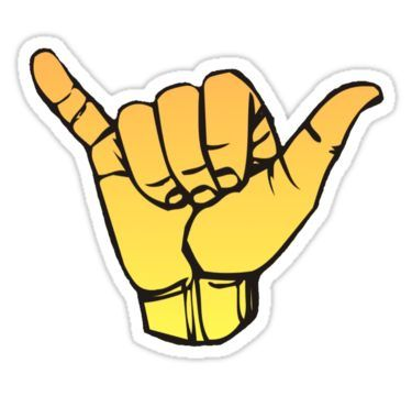 Yellow Ombre Shaka Sticker In 2019 Products Stickers