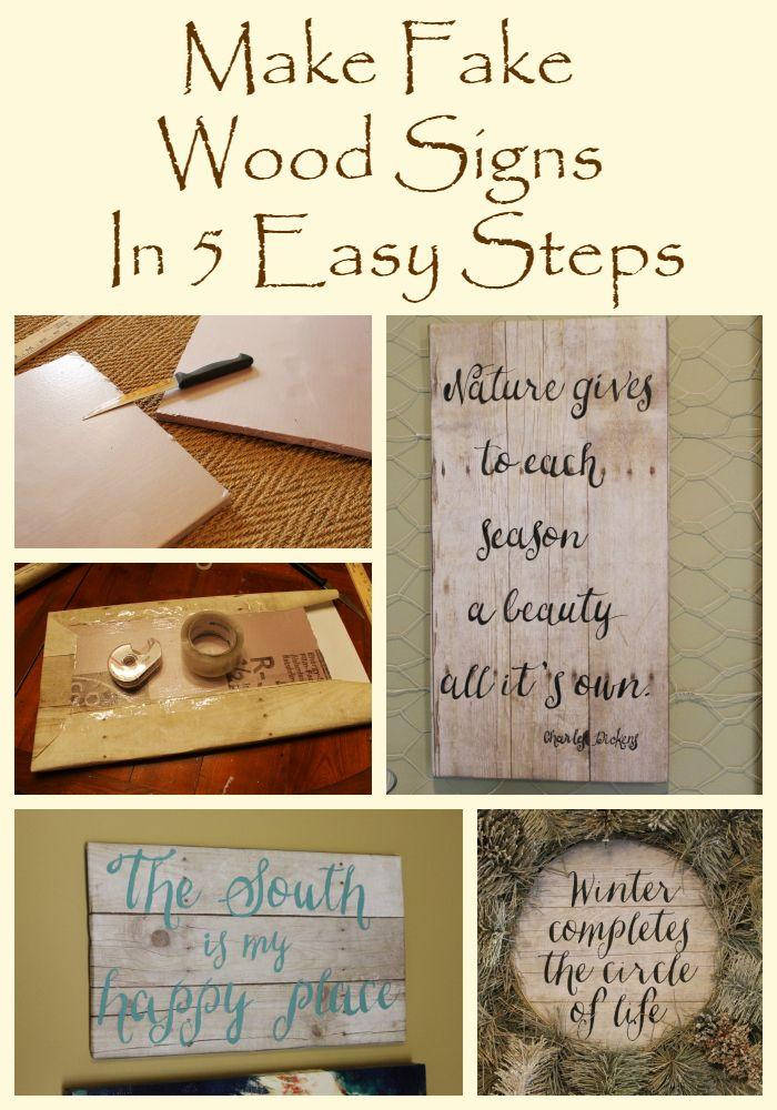 Fake Wood Signs In 5 Easy Steps