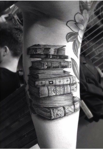 44 Adorable Tattoo Designs for Book Lovers