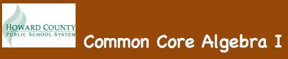 commoncore algebra1 - database of lessons and activities