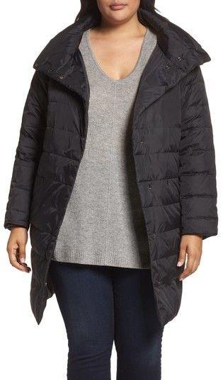 Eileen Fisher Plus Size Women's Down Puffer Coat