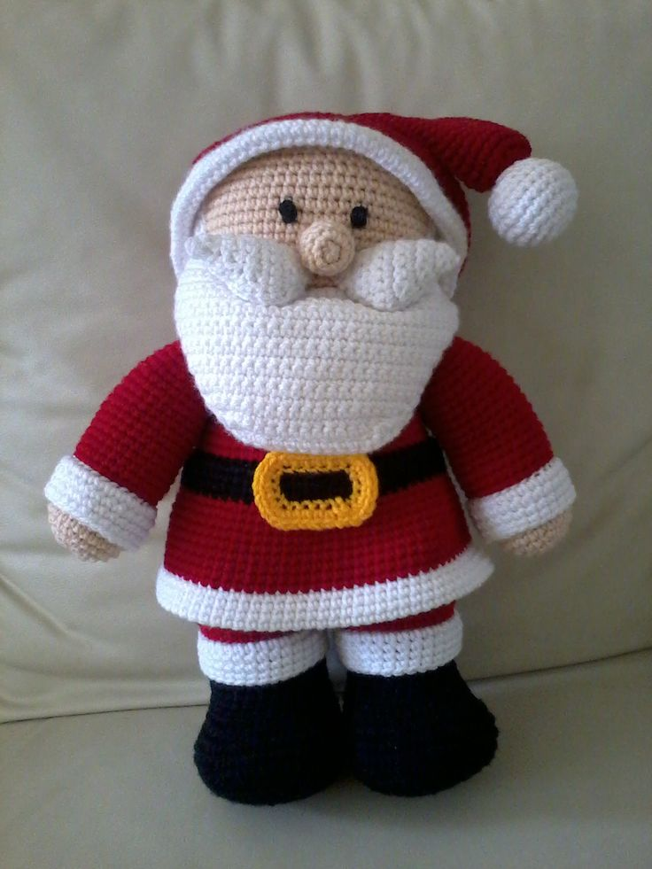Amigurumis Navidad Crochet : Un papa noel para navidad amigurumis pinterest