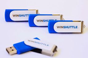 Promotional USB Twister with pantone matched body and resin domed branding from promobrand.