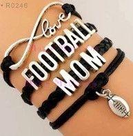 Football Mom Bracelet - Black