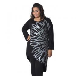 PLUS SIZE  SHAYNA HITAM  I www.fashionbiz.co.id