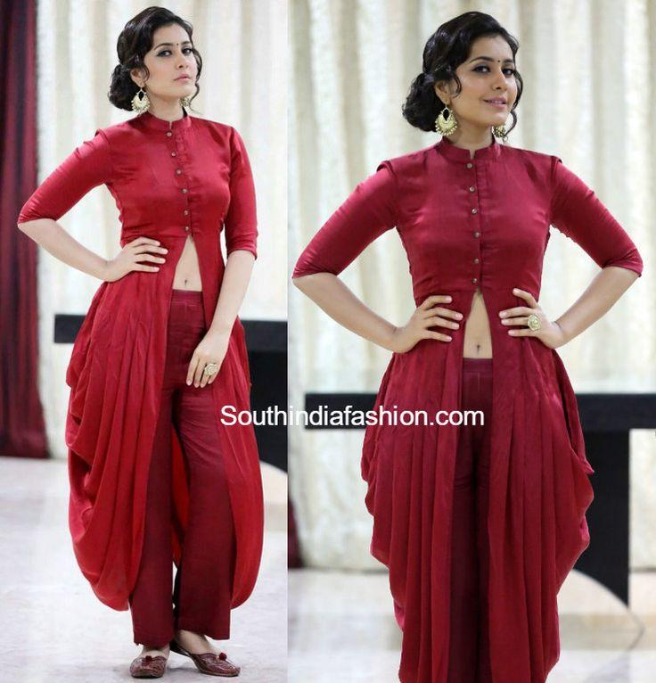 raashi khanna dhoti dress mintblush baharcafe launch 576x600 photo