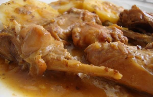 Receta de Conejo en salsa de limón