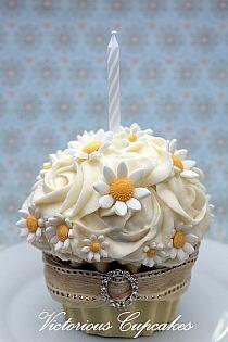 Daisies cupcakes