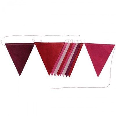 Vlaggenlijn Lokta Papier Bordeaux Roze