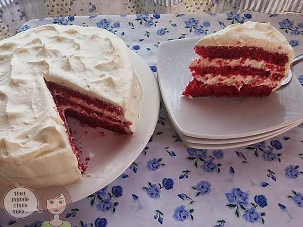 Meu mundo e tudo mais...: Red Velvet Cake - Bolo de Veludo Vermelho