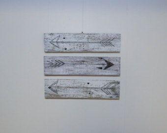 3 flèche de bois de récupération rustique récupéré par UpcycleCharm