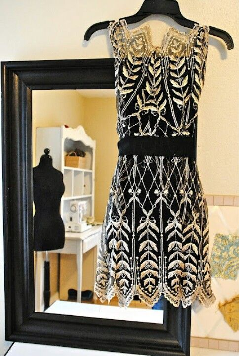 Glam Black and white party frock
