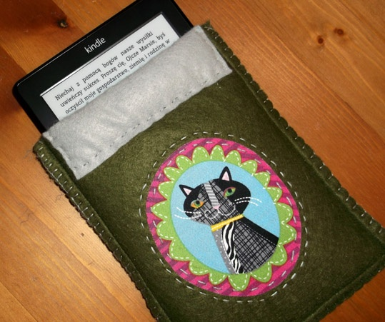 Kindle e-book reader cover http://sztukaoswojona.blogspot.com