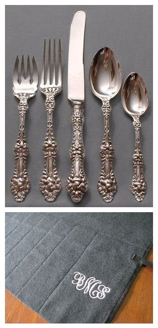 Gorham Old Orange Blossom Flatware And Anti Tarnish Flatware Roll By  Sherwood Silver Bags On Etsy