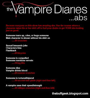 Vampire Diaries abs. Haha. Will have to use this with The Originals too