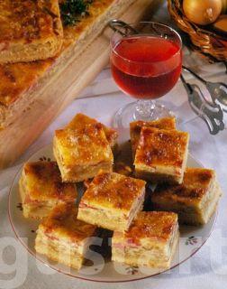 francia hagymás-sonkás pite