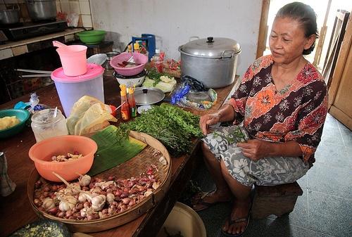East Java,Indonesia. Inside Java kitchen