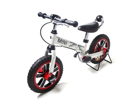 MINI Cooper 4 wheel 12 inch steel material children bicycles kids bike  - Size: 12''- Material Composition: Carbon steel + ABS/PP - Age: 3-5 years - Bicycle Frame Material: Carbon steel Cdn $299.99 coming soon at Toys and Stuff