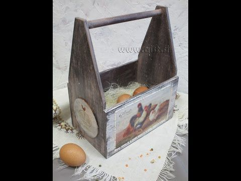 Decoupage tutorial - DIY. How to make a Shabby Chic box. - YouTube