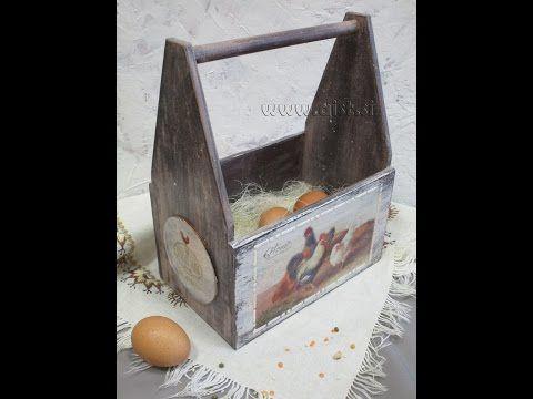 Decoupage tutorial - DIY. How to make a Shabby Chic box. - YouTube