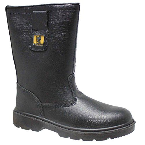 From 16.95 Mens Leather Safety Steel Toe Cap Rigger Boots Work Shoes Trainers Size 6-12 Uk (uk 9)