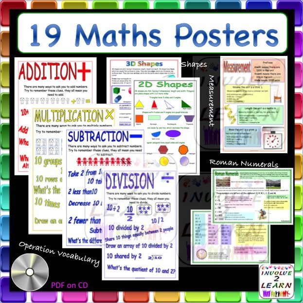 190 best year 5 images on pinterest student centered resources there are 19 math posters i think suitable for all grade 1 6 fandeluxe Choice Image