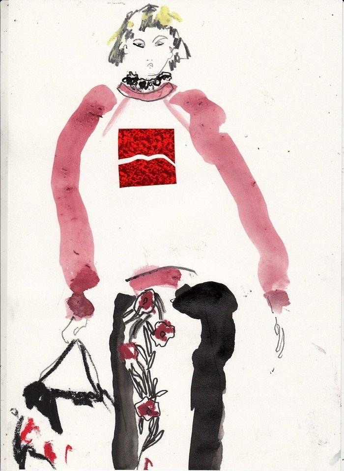 Marc Jacobs SS14 illustration via Helen Bullock- COKE