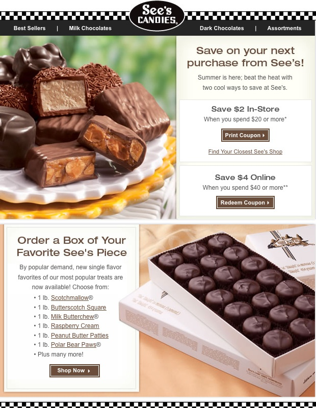 see s candy email blast design inspiration pinterest candy