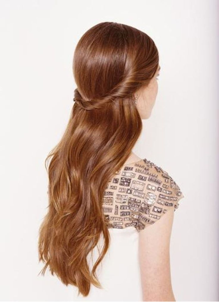 10 Gorgeous Messy Updos - romantic, twisted back, half-up half-down hairstyle