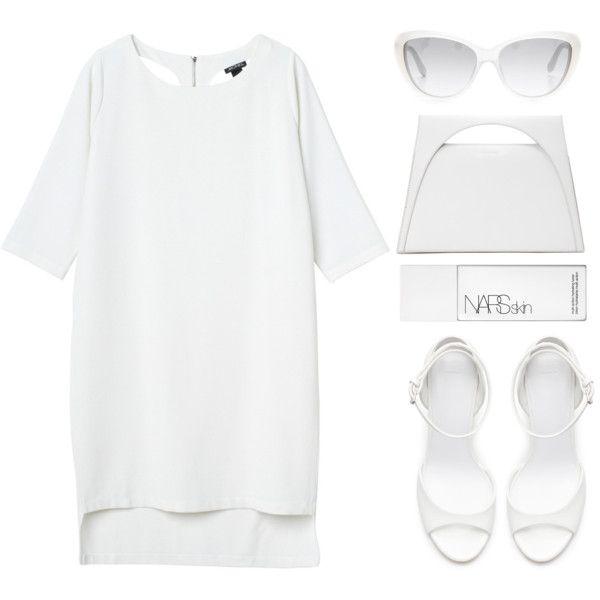 """Look 16 - White Romance"" by splashthestyle on Polyvore polyvore, fashion set, fashion, ootd, collage, minimal, outfit"