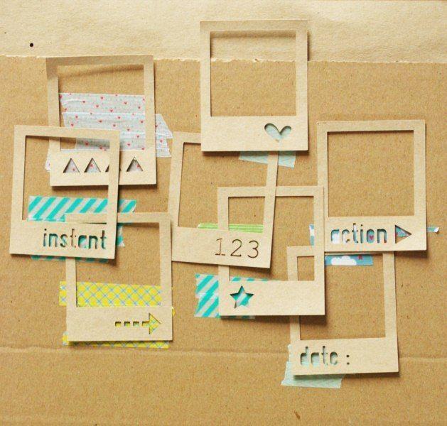 8 cadres polaroid en kraft de scrapbooking et carterie sur paper ideas. Black Bedroom Furniture Sets. Home Design Ideas
