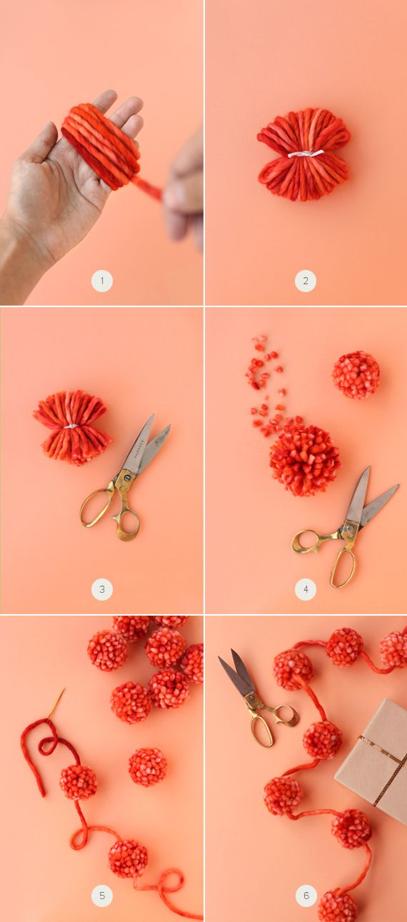 how to make a cozy pom-pom garland, from minted's blog #Julep