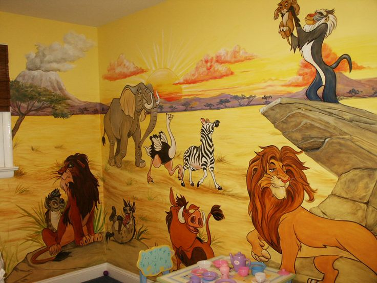 lion king omg if dustin would let me do this to our baby room i would be one happy girl!!! love love love lion king!