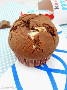 Muffins chocolat au cœur de kinder | Les casseroles de Lise