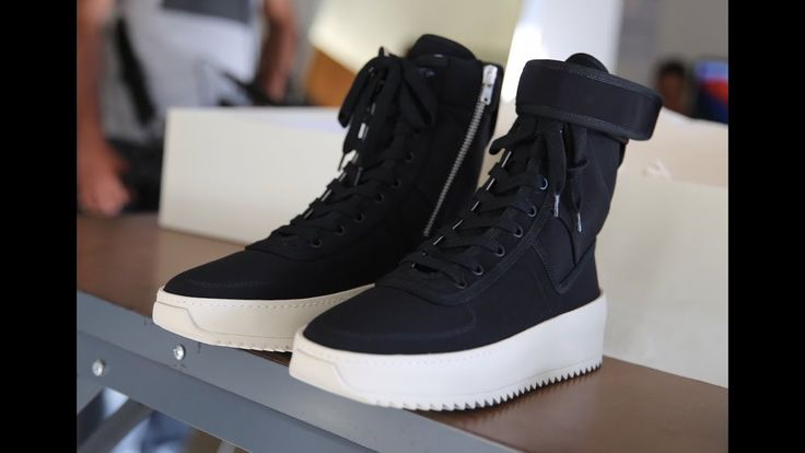 Fear Of God Military Snaker Black color HD review from aj23shoes