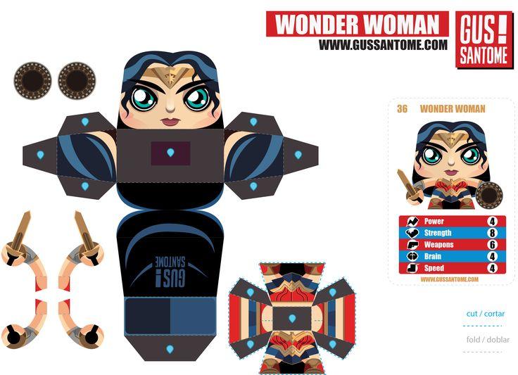 Wonder Women Papercraft template by Gus Santome