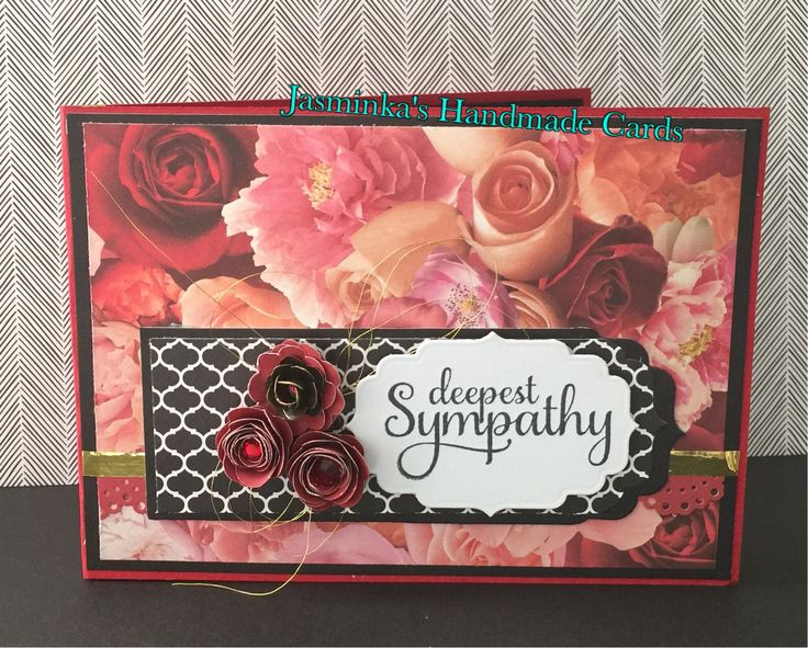 Sympathy Card - For a friend who's tragically lost her daughter Christmas Eve. She was so adorable and I still can't believe she's gone. Used La Vie En Rose papers from CTMH <3