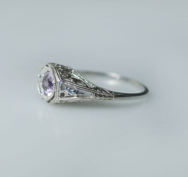 amythest rings | Amethyst Ring Sterling Silver Antique Style