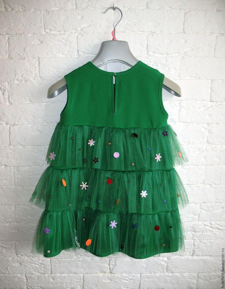 """Купить Новогодний костюм """"ЕЛОЧКА"""" - зеленый, костюм новогодний, костюм карнавальный, детский новогодний костюм"""