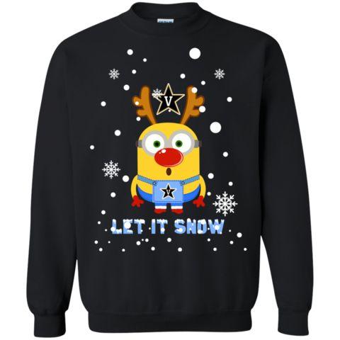 Minion Vanderbilt Commodores Ugly Christmas Sweaters Let It Snow Hoodies Sweatshirts