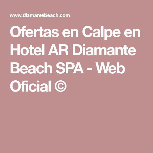 Ofertas en Calpe en Hotel AR Diamante Beach SPA - Web Oficial ©