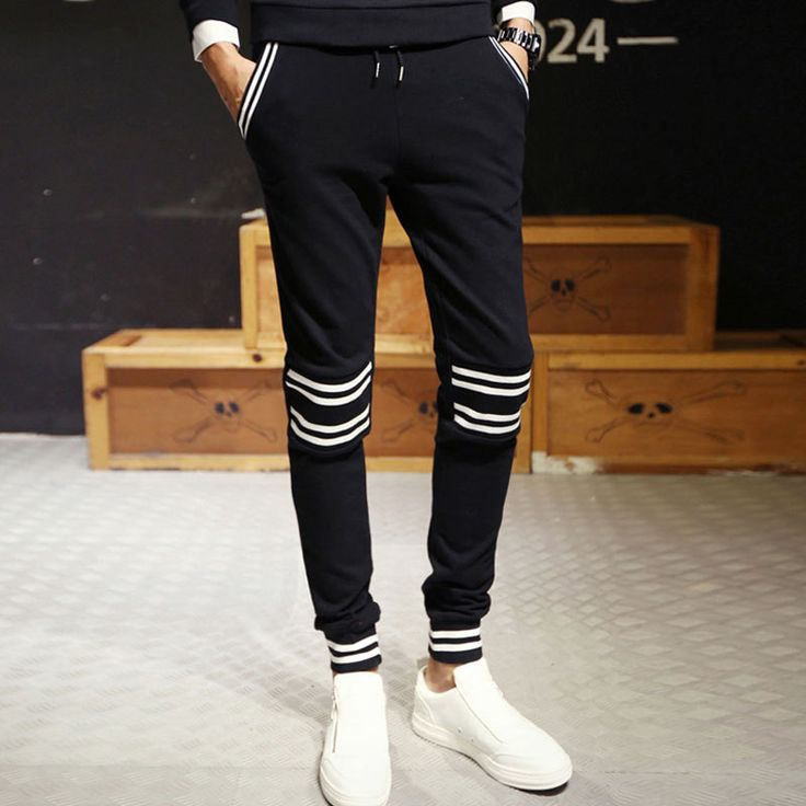 Skinny Joggers New Slim Black Men Jogger Pants Harem Sweatpants Trousers Pants Sarouel Pantalon Homme