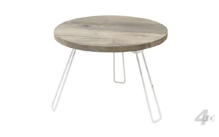 Salontafel Recycle 60 White Wash - Salontafels - Tafels