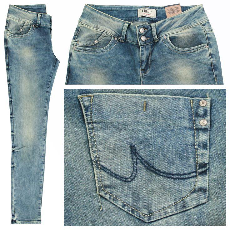 LTB Stretch Damen Jeans / Form: Molly Super Slim / Farbe: hellblau verwaschen - FarbNr.: 1653 / im LTB Jeans Online Shop