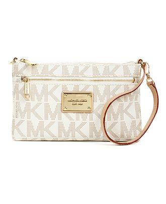 MICHAEL Michael Kors Handbag, MK Logo Large Wristlet - Wallets \u0026 Wristlets  - Handbags \u0026
